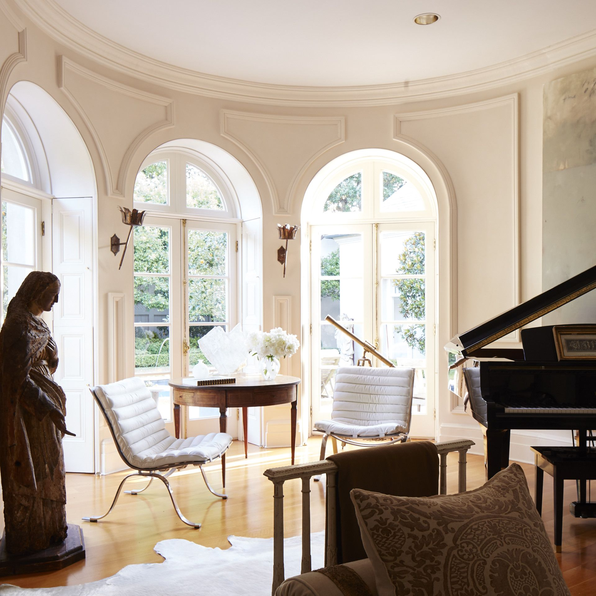 Tara Shaw Design | New Orleans | Giant arched doors connect the ...