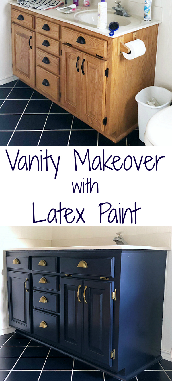 Photo of My $6.00 Vanity Makeover with Latex Paint – Lemons, Lavender, & Laundry