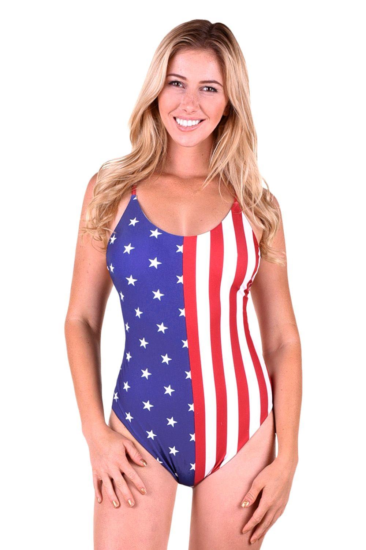 Women s American Flag One Piece Bathing Suit 3f26173001d2