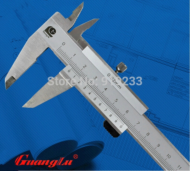 48.83$  Watch here - http://alinwz.worldwells.pw/go.php?t=1999591019 - Free shipping cheap four use vernier caliper 0-200mm closed stainless steel four vernier calipers 0.02mm guanglu brand 48.83$