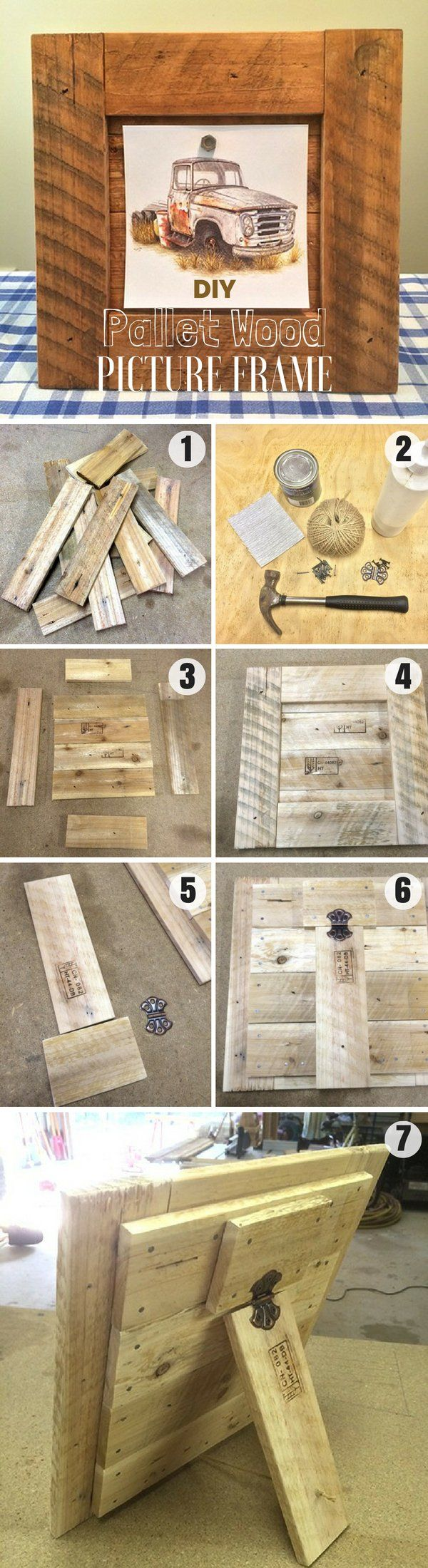 Check out how to make an easy DIY Pallet Wood Picture Frame ...