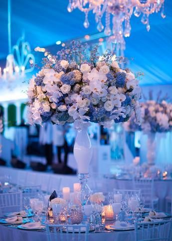 ideas decoración boda azul Índigo Bodas y Eventos www