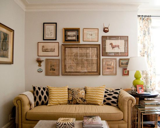 Beau Amazing Wall Picture Collage Ideas: Fascinating Eclectic Living Room Wall  Picture Collage Ideas Chesterfield Sofa