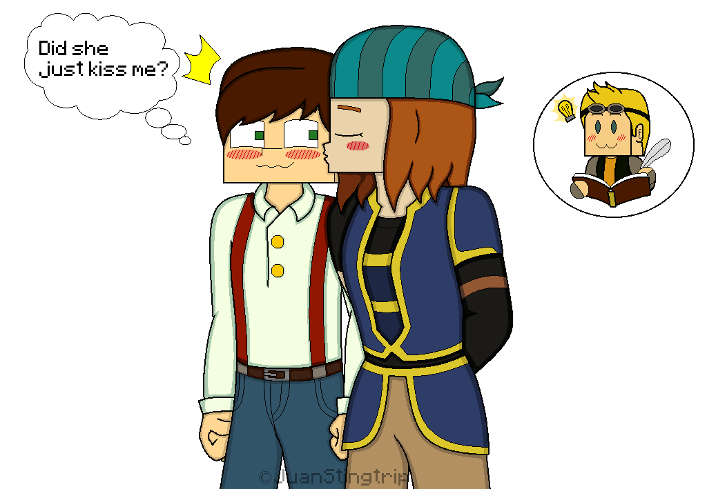 Jetra Kiss On The Cheek By Juanstingtrip Minecraft Fan