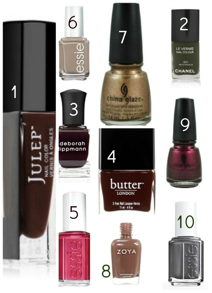 10 nail polishes for fall (2013) 1. Julep, Coco 2. Chanel Le Vernis ...
