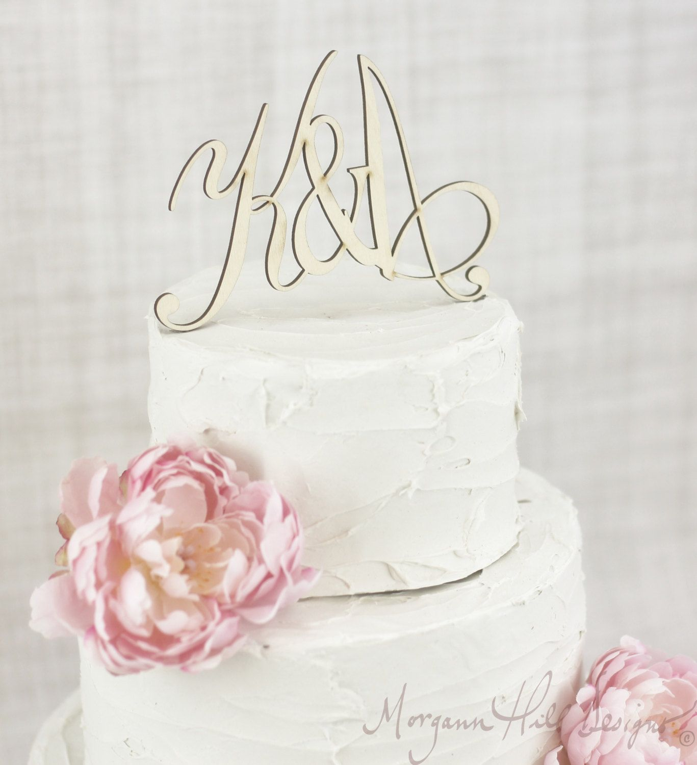 Rustic wedding cake topper personalized wood barn country wedding
