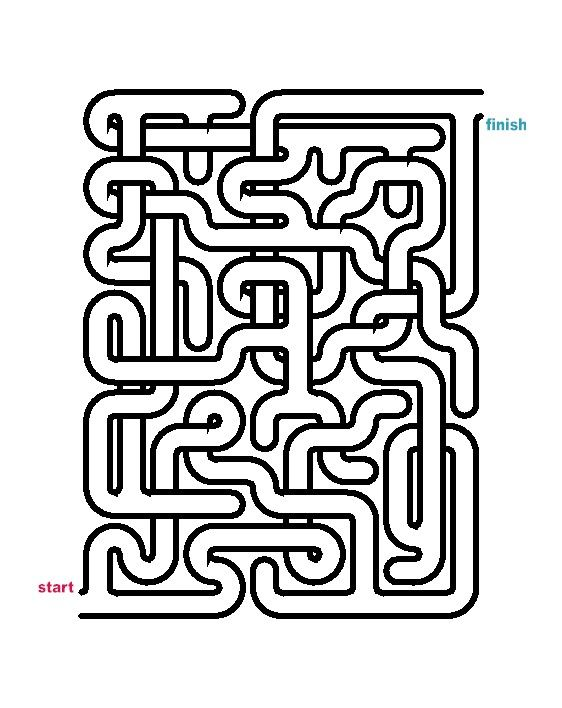 It is an image of Printable Mazes Medium intended for medium difficulty