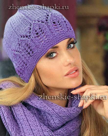 красивая вязаная шапка спицами Hats вязаные шапки вязание и