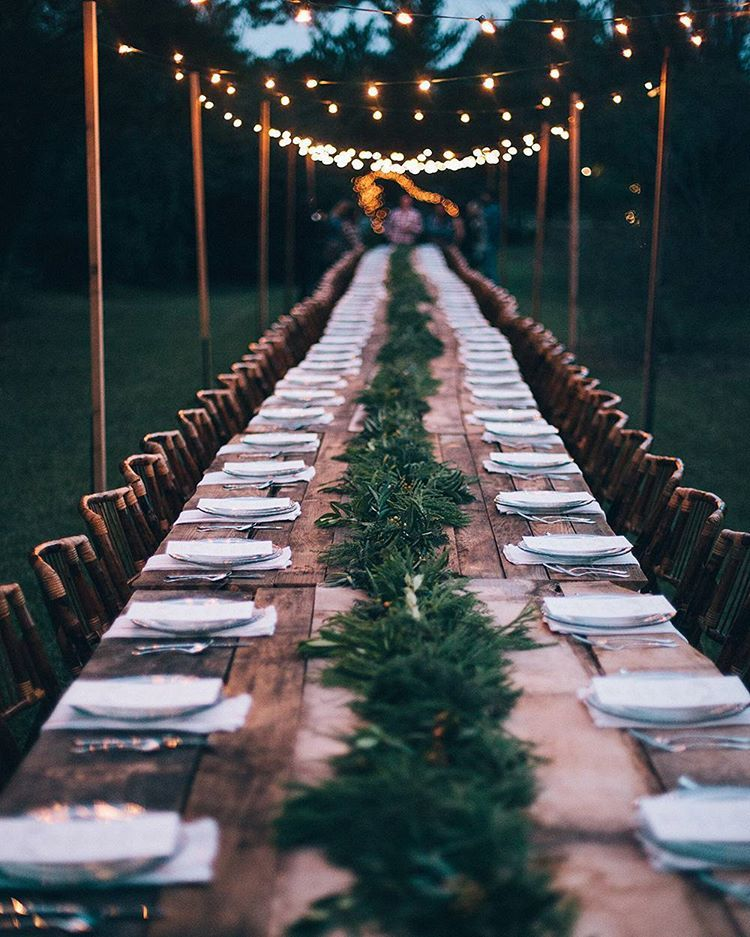Lindsey On Instagram Theres Something Sort Of Magical About Sitting Down At A Table With 99 Fr Wedding Reception Tablescapes Outdoor Wedding Backyard Wedding