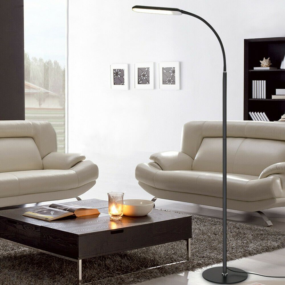 Led Reading And Process Floor Lamp Dimmable Eye Protection Remote