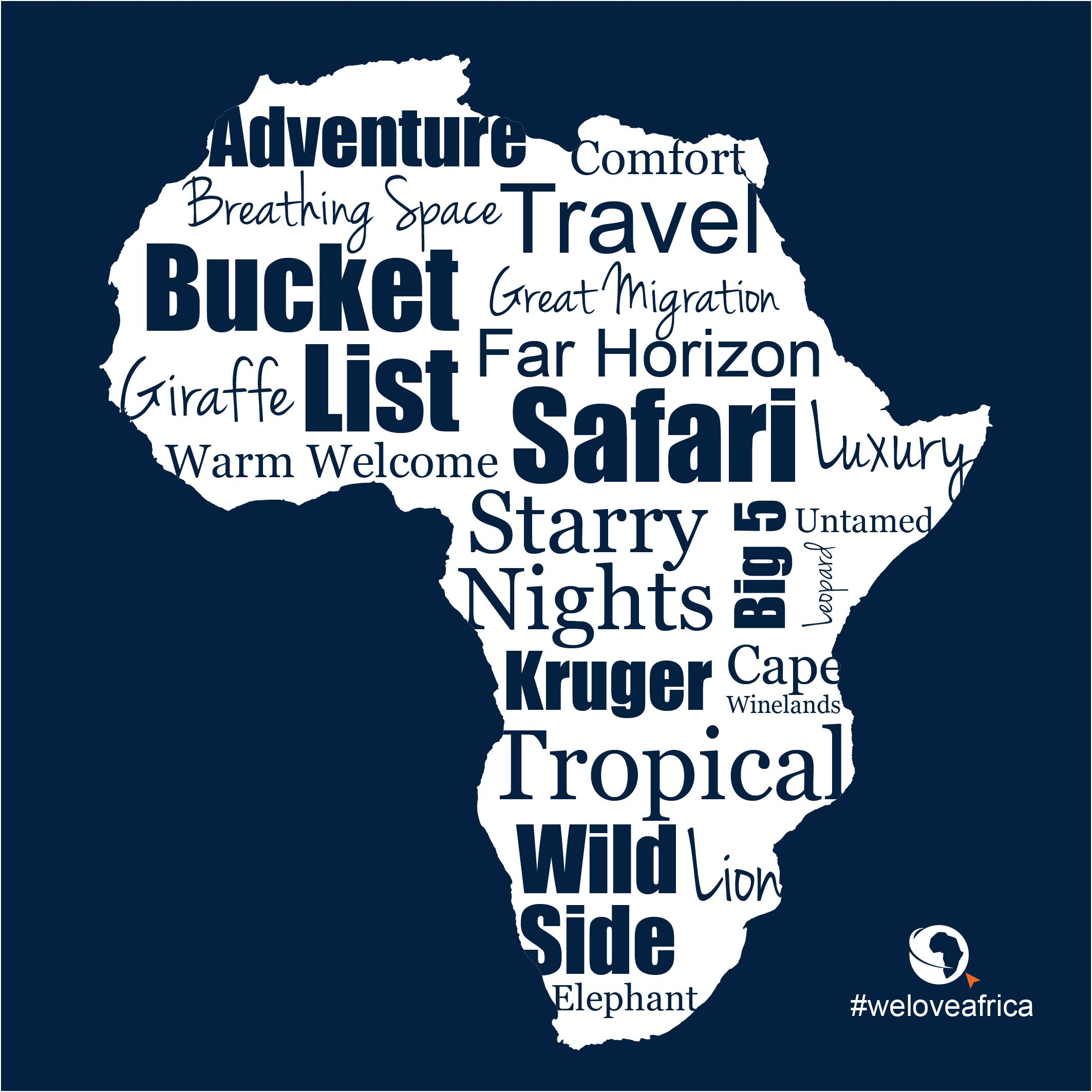 Words we love when describing our beautiful home #Africa. #WeLoveAfrica