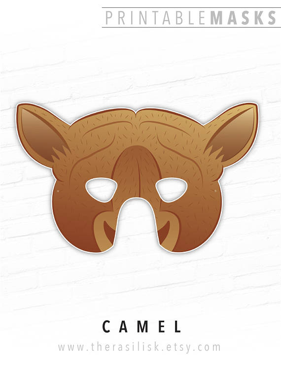 Printable Animal Mask Camel Paper Masks Nativity Set Costumes Mas