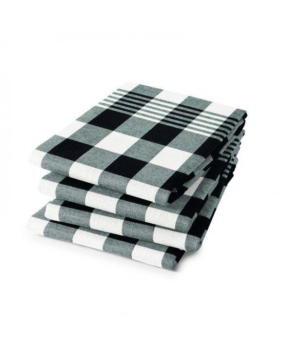 Theedoek Zwart Wit.Pin Op Keukentextiel