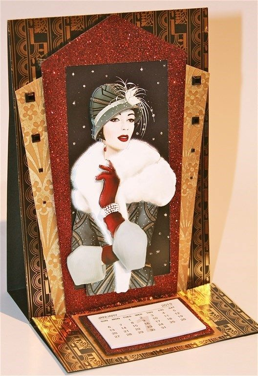 12 DANCE AWAY ART DECO  TOPPERS Card Making Toppers Card Toppers