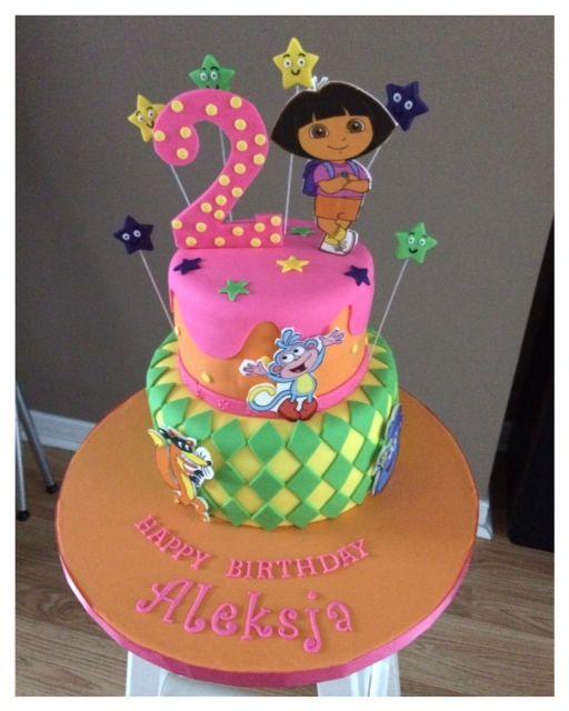 Dora the explorer Birthday Cake mias bday cake Pinterest