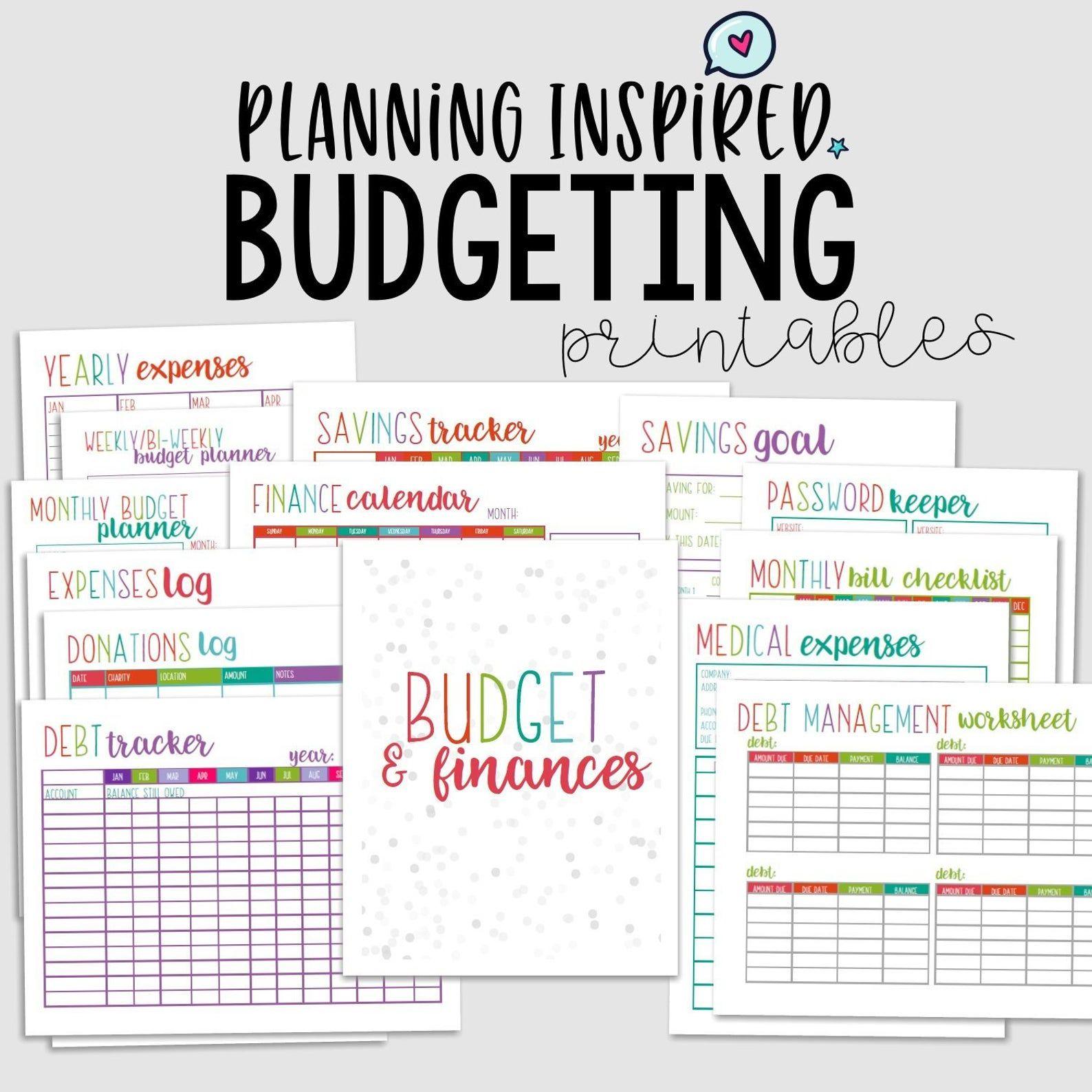 Printable Budget Planner Budget Printables Printable