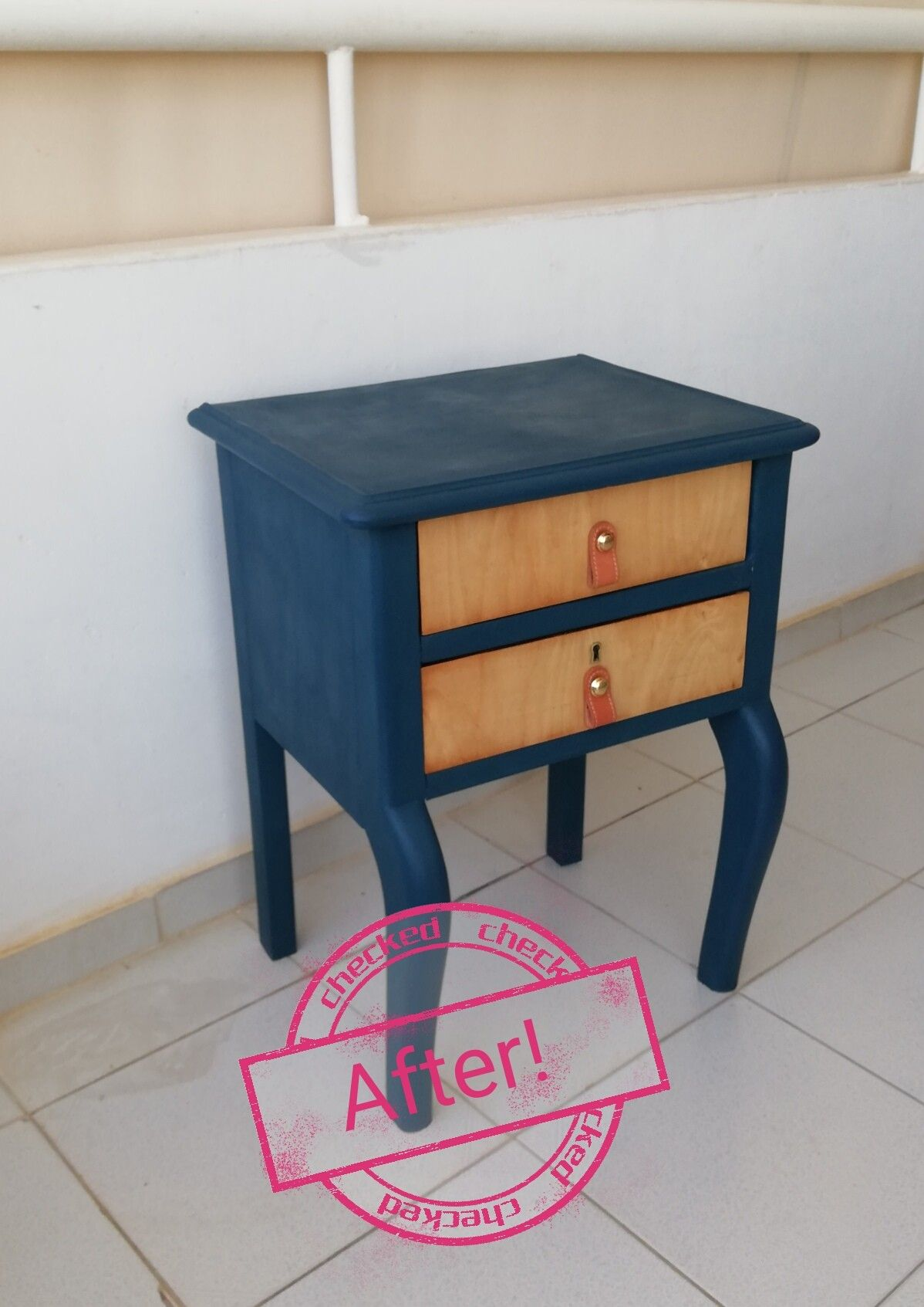 Night Stand With Chalk Paint Aubusson Blue From Annie Sloan