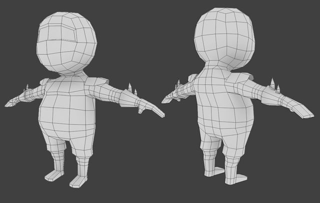 Blender Modeling A Cartoon Character : Creating a low poly ninja game character using blender