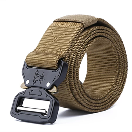 Men Nylon Military Style Casual Outdoor Tactical Webbing Riggers Web Buckle Belt