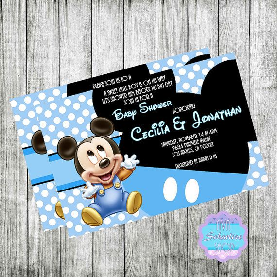 Baby mickey mouse invitation baby shower invitation baby baby baby mickey mouse invitation baby shower invitation baby filmwisefo Images