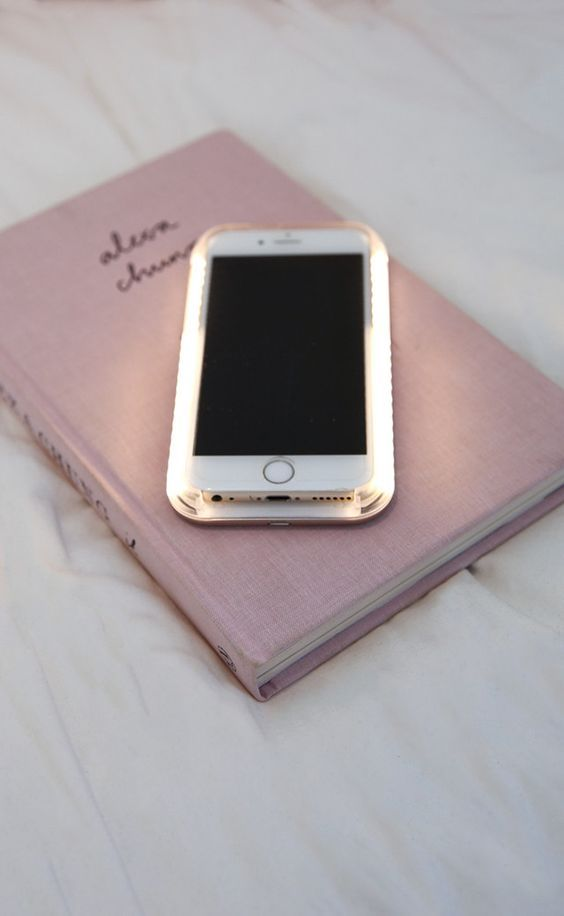 light up selfie lighting iphone cover in rose gold  50599a346