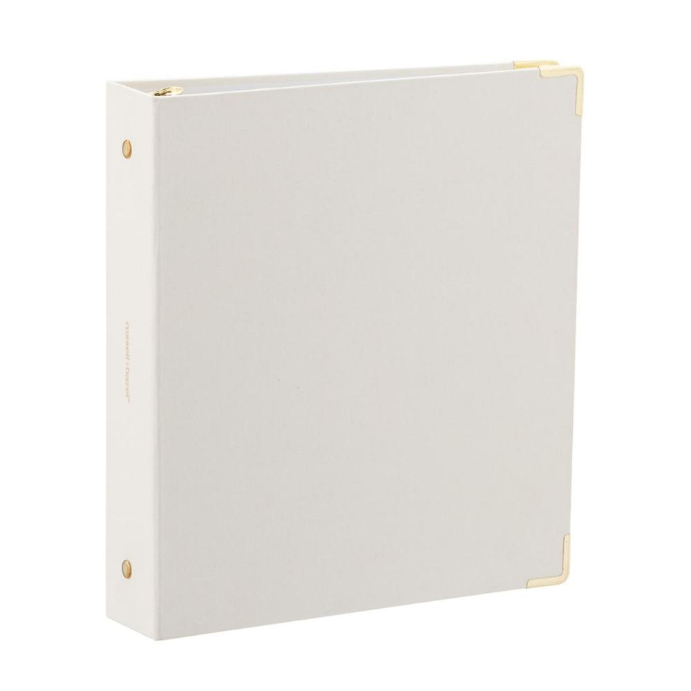 """Russell + Hazel Linen Bookcloth Mini 1"""" Three-Ring Binder"""