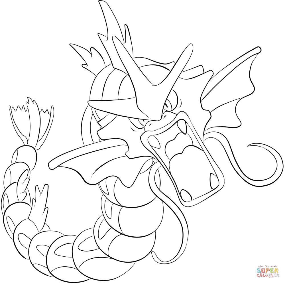 Pokemon Coloring Pages Gyarados Pokemon Sketch Pokemon Coloring