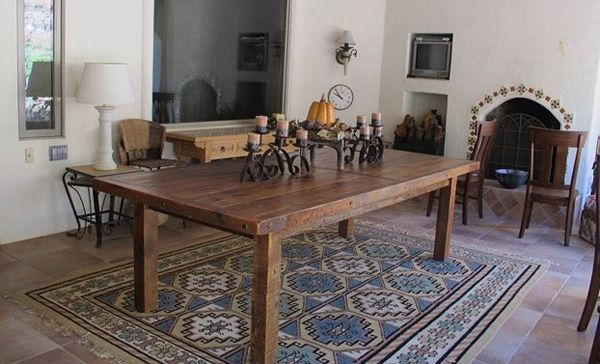 rustic tables mission dining table tuscan dining room furniture farmhouse tables - Rustic Farmhouse Table