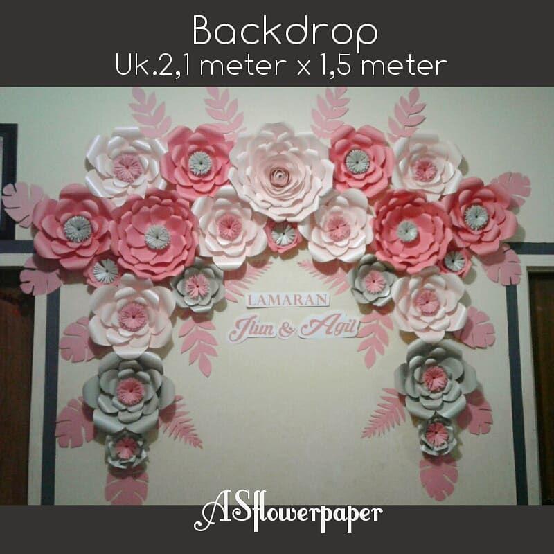 Paper Flower Backdrop Harga Mulai Rp 100 000 1 Bonus Dekorasi