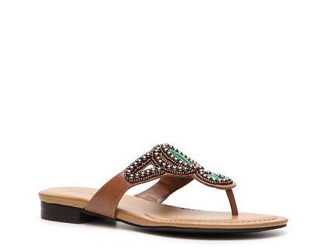 Ann Marino Minuet Beaded Sandal Women's Flat Sandals Sandals Women's Shoes - DSW