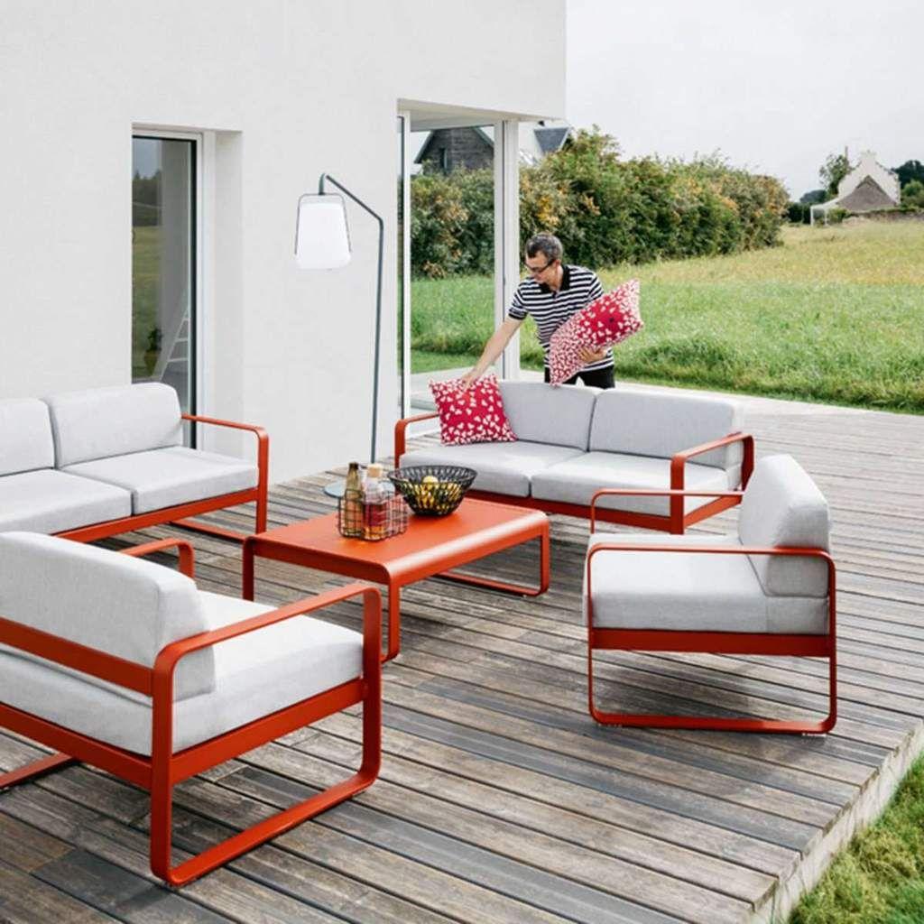 Fermob Bellevie Sofa Metal Patio Furniture Used Outdoor Furniture Contemporary Garden Furniture