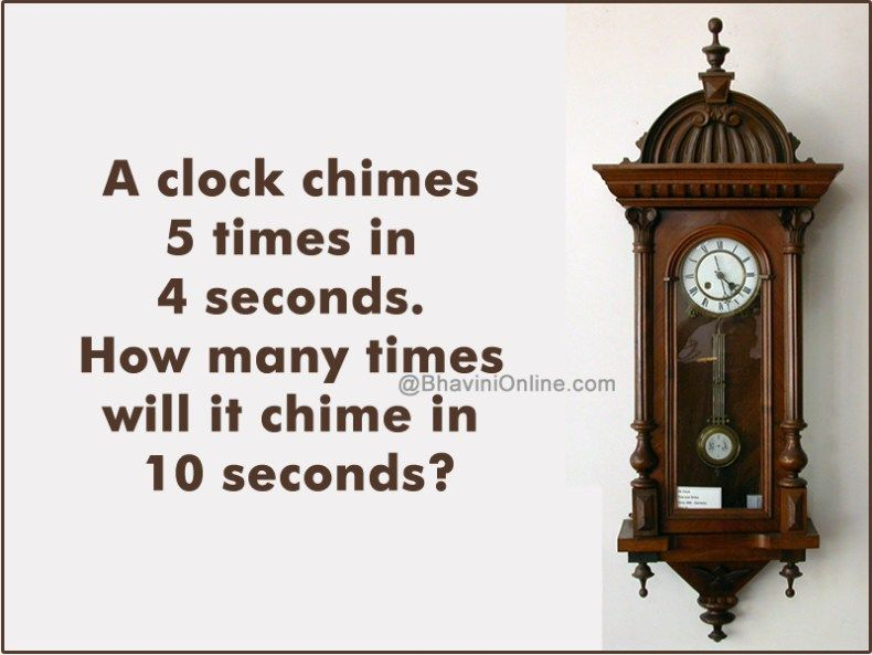 Logical riddle clock chimes