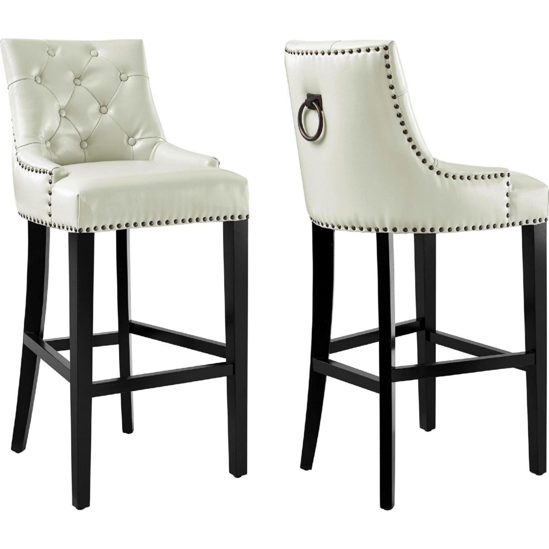 Sensational Tov Furniture Tov Bs18 Uptown Diamond Tufted Cream Leather Dailytribune Chair Design For Home Dailytribuneorg