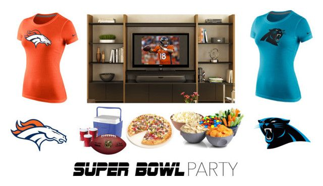 """""""Game On! Super Bowl Party"""" by mynubra ❤ liked on Polyvore featuring interior, interiors, interior design, home, home decor, interior decorating, NIKE, ThinkGeek, Fox Run and Coleman"""