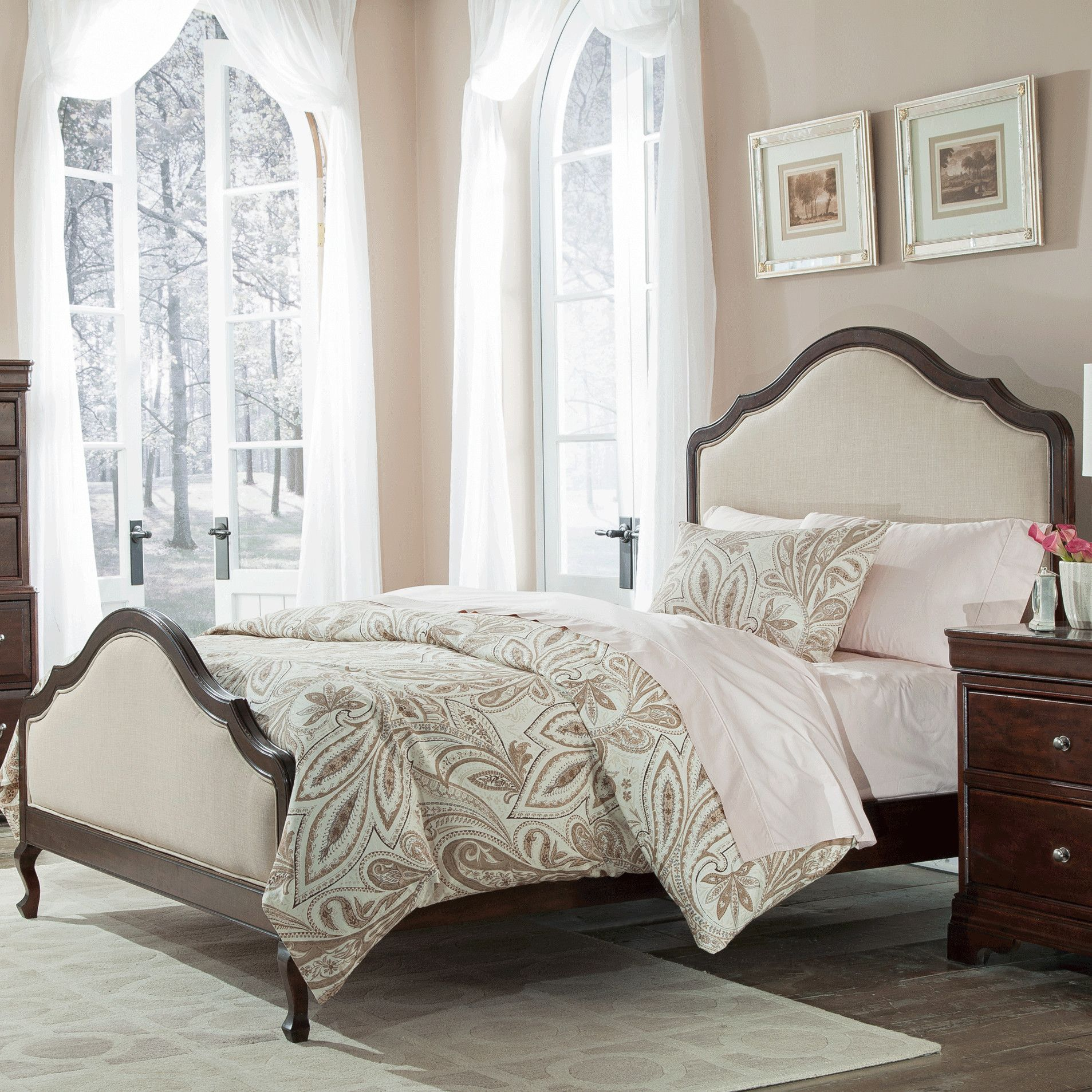 Cresent Furniture Provence Upholstered Panel Bed | New House: Master ...