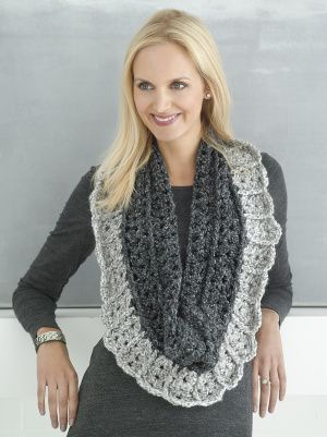 Crochet a Two Way Ribbed Scarf- You could use all kinds of colors to ...