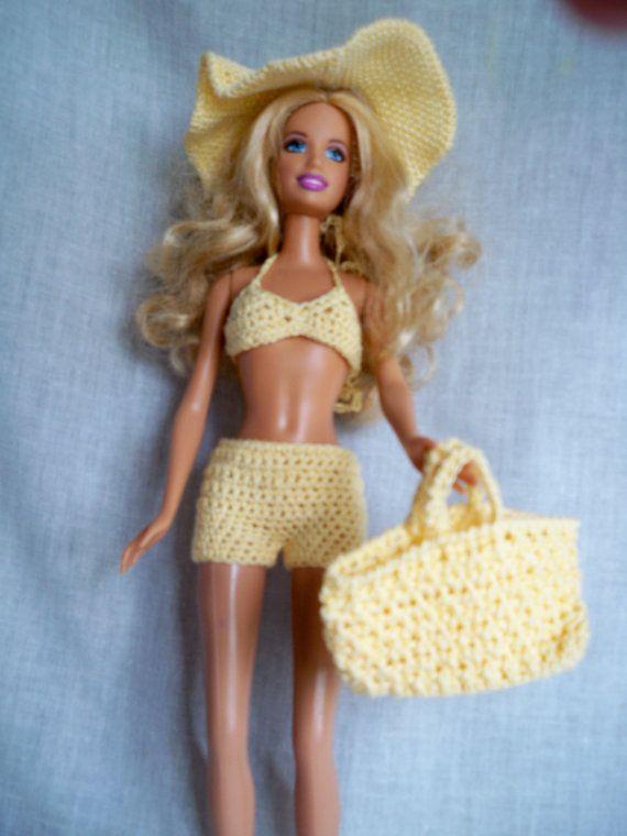 barbie crochet swimsuit | crochet doll outfits | Pinterest ...