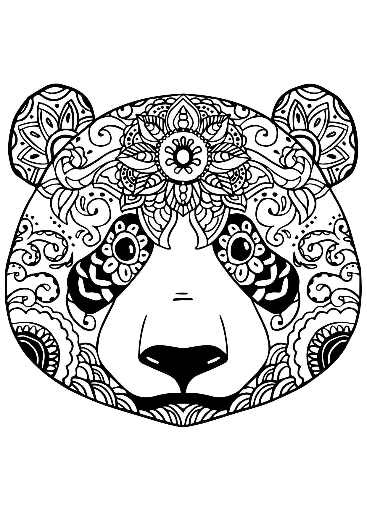 R sultat de recherche d 39 images pour mandala panda imprimer dibujo coloriage mandala - Coloriage panda roux mandala ...