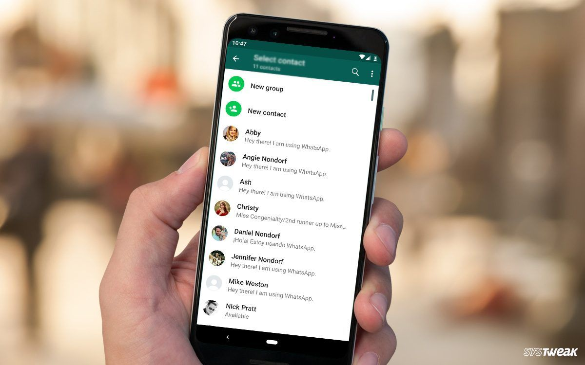 Contact names disappearing in whatsapp heres the fix