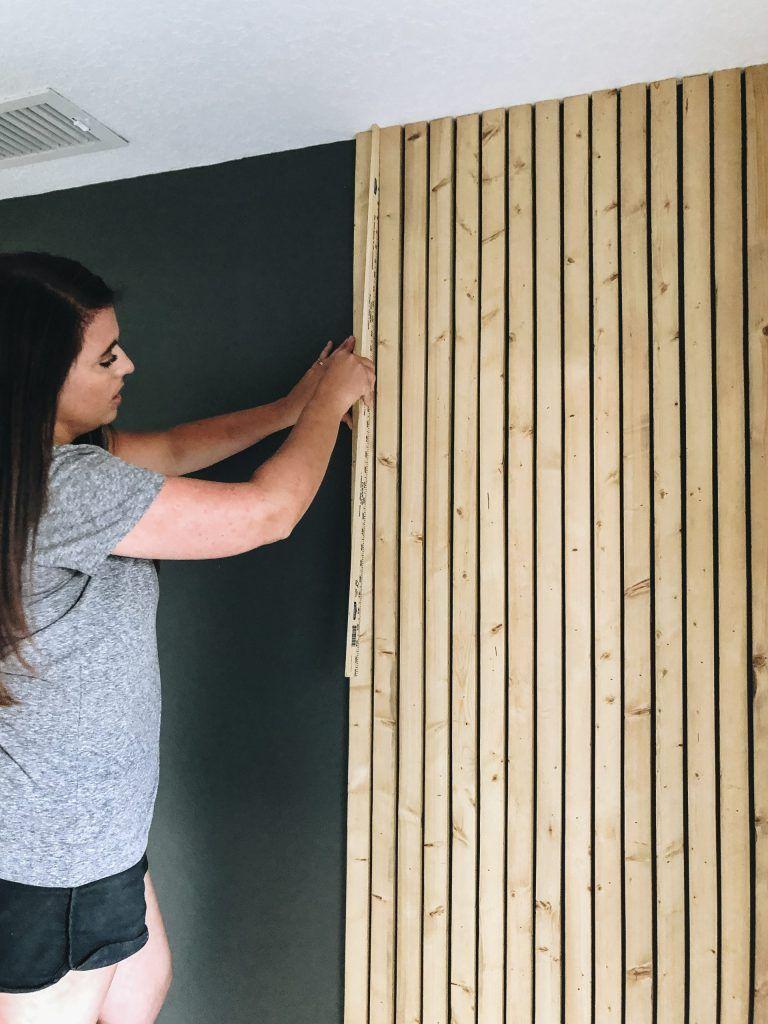 DIY Wood Slat Wall - Within the Grove