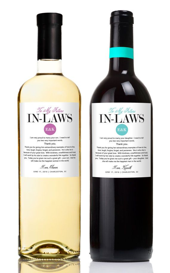 Wedding Gifts For Parents Wine Labels Wedding Wine Labels Thank