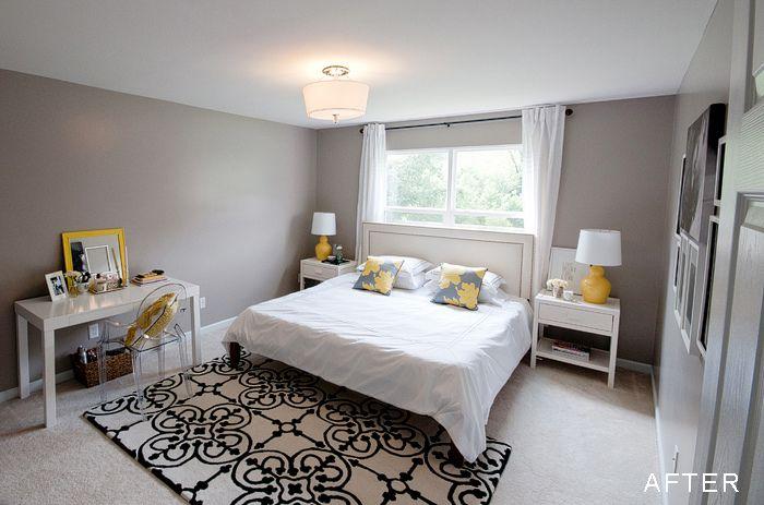 Gray And Yellow Bedroom Benjamin Moore Silver Fox Paint