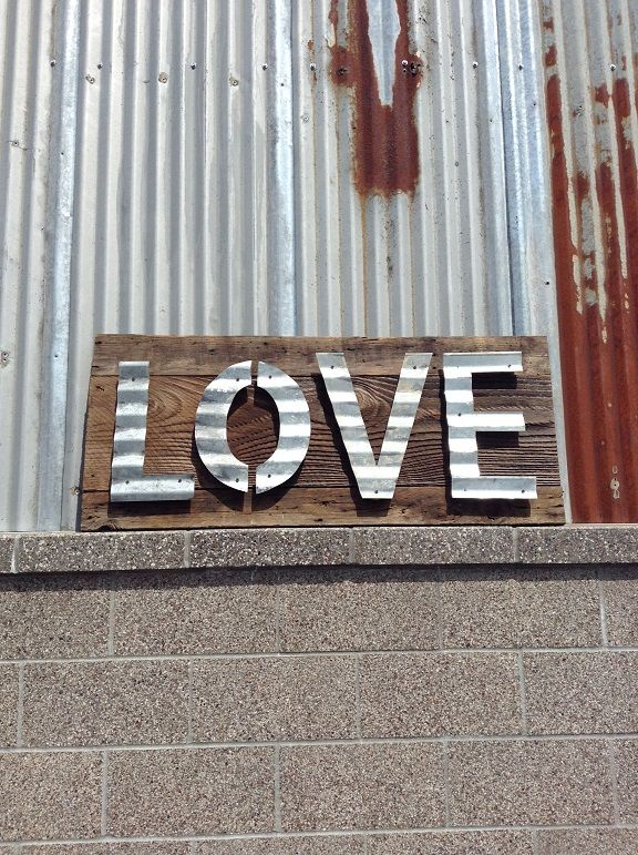 Handmade Sign Using Vintage Reclaimed Barn Wood With