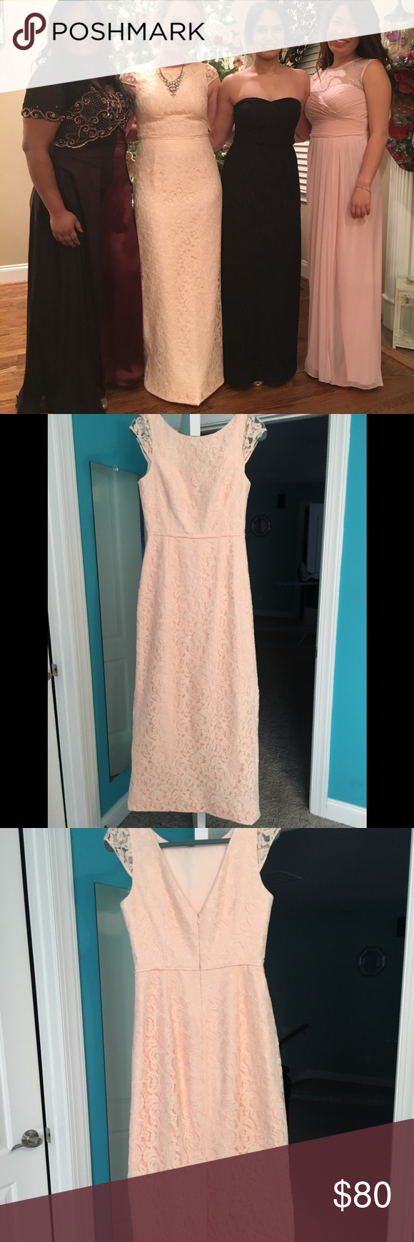 Light peach lace j crew formal dress size my posh picks
