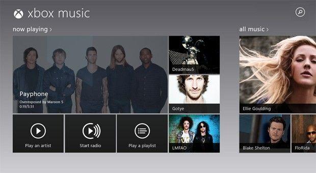 Windows 8 Music update brings inapp searching, loginfree
