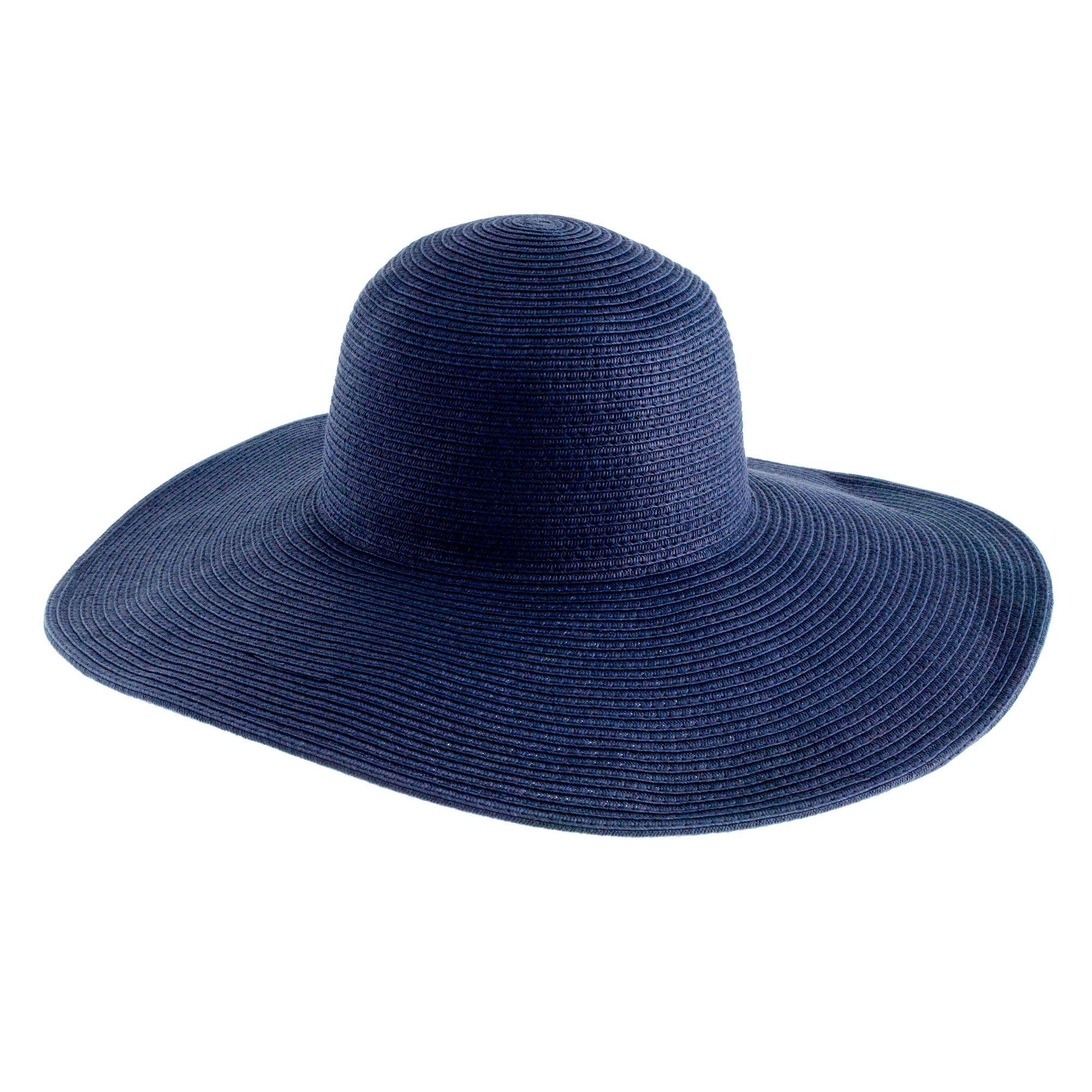 84e5f8d7bca J.crew Summer Straw Hat in Blue (navy)