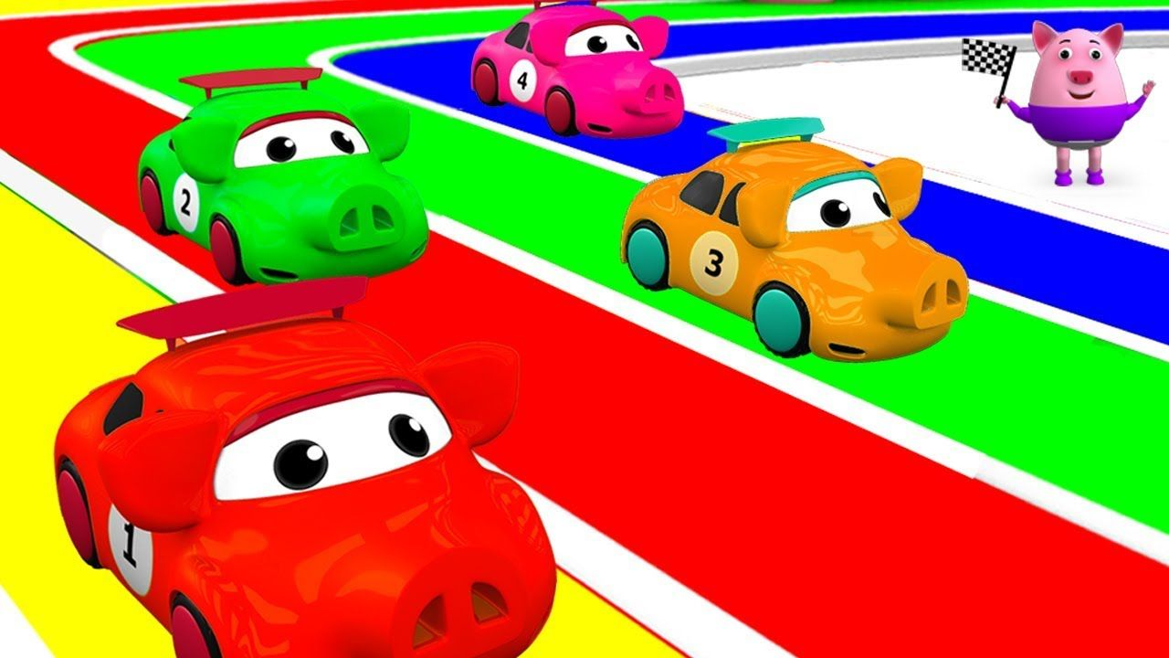 Baby Pig Learning Numbers For Children With Kids Cars Racing Education Play Doh For Kids Kids Playing Baby Pigs