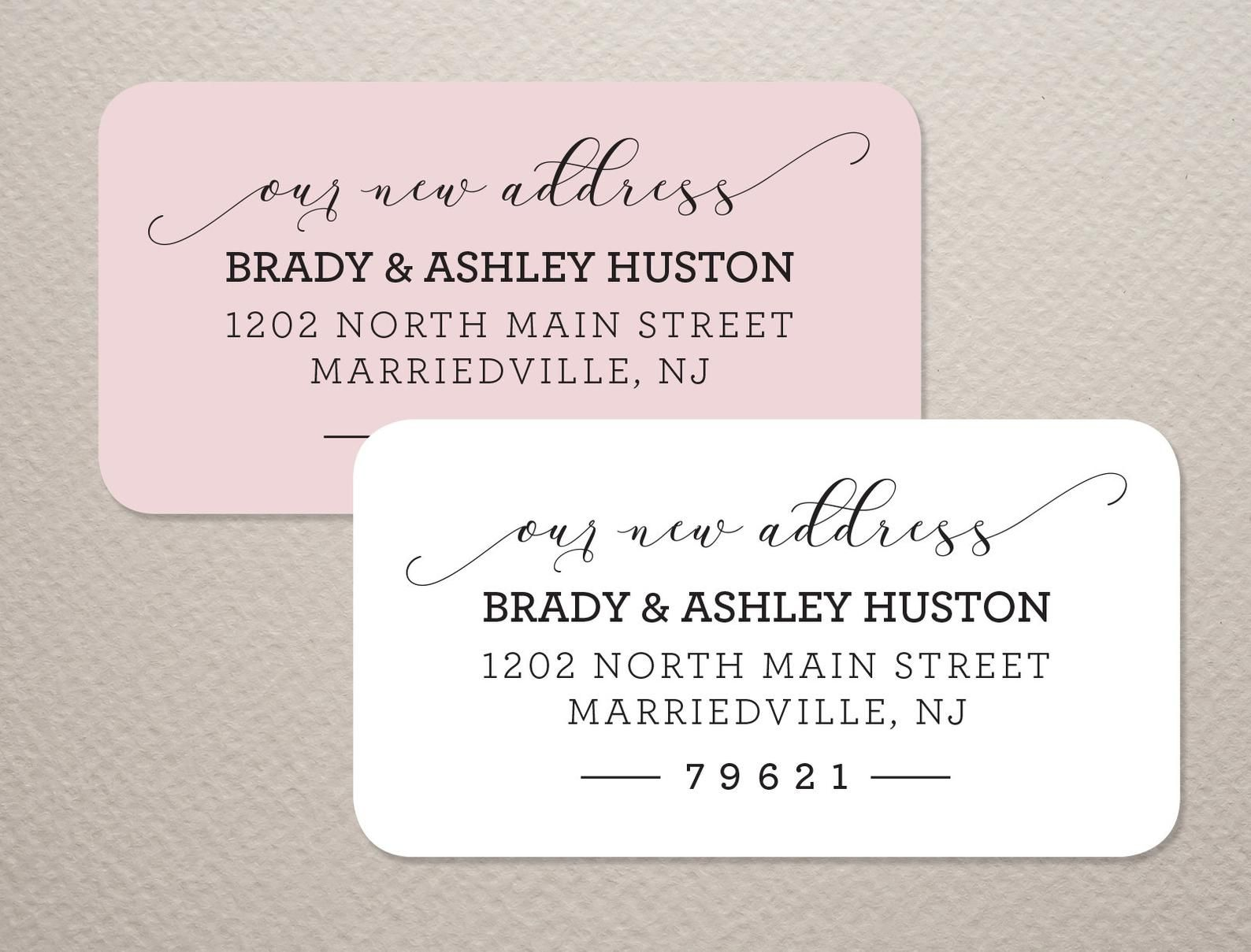 This is an image of Genius Newlywed Return Address Labels