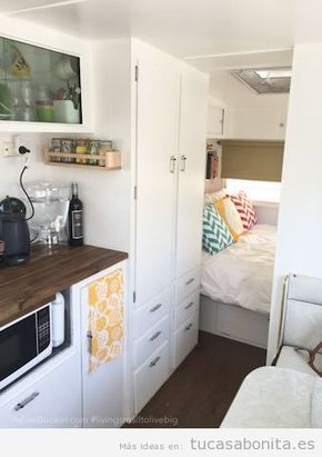 Ideas decorar caravana autocaravana estilo vintage shabby - Interior caravana ...
