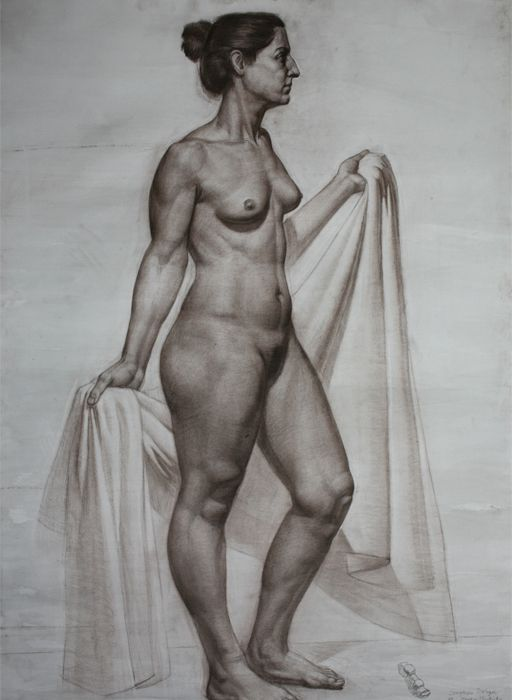 Nude figure drawing model vag
